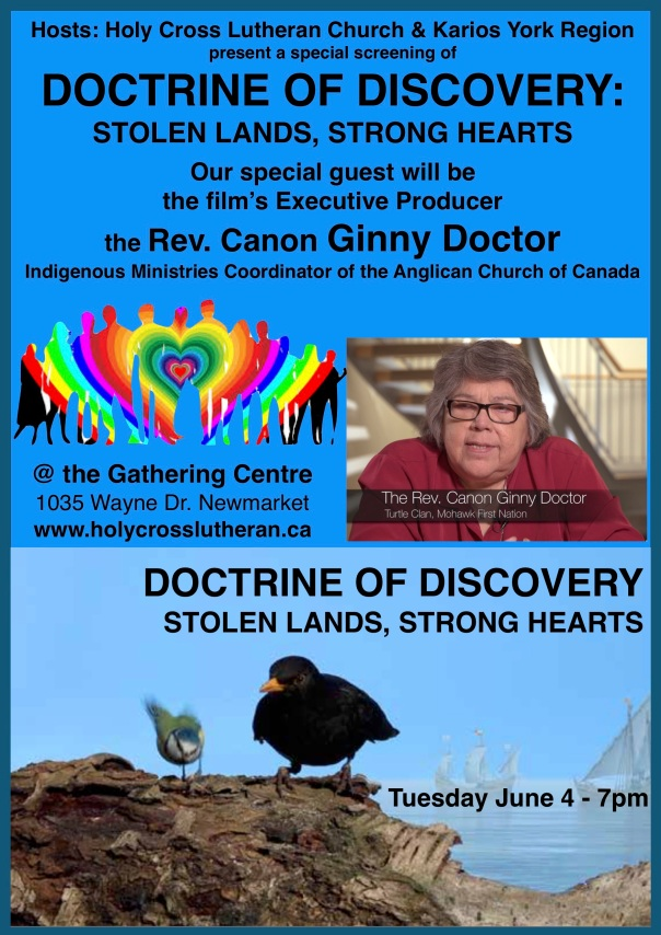 Doctrine of Discovery film Flyer